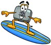 Camera Cartoon Character Surfing clipart
