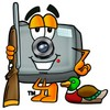 Camera Cartoon Character Duck Hunting clipart