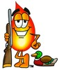 Flame Cartoon Character Duck Hunting clipart