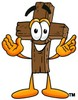 Wooden Cross Cartoon Character clipart