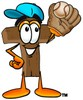 Wooden Cross Cartoon Character Playing Baseball clipart