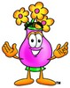 Flower Cartoon Character clipart