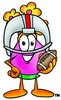 Flower Cartoon Character Playing Football clipart