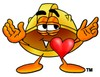 Hard Hat Cartoon Character In Love clipart