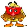 Hard Hat Cartoon Character Wearing a Mask clipart