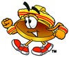 Hard Hat Cartoon Character Speed Walking clipart