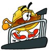 Hard Hat Cartoon Character on a Treadmill clipart