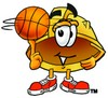 Hard Hat Cartoon Character Spinning a Basketball clipart