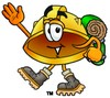 Hard Hat Cartoon Character Hiking clipart