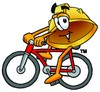 Hard Hat Cartoon Character Riding a Bike clipart