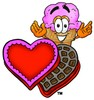 Ice Cream Cartoon Character With Valentines Candies clipart