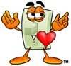 Light Switch Cartoon Character In Love clipart