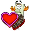 Light Switch Cartoon Character With Valentines Candies clipart