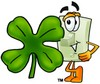 Light Switch Cartoon Character With a Four Leaf Clover clipart