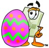 Light Switch Cartoon Character With an Easter Egg clipart