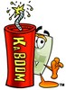Light Switch Cartoon Character With a Stick of Dynamite clipart