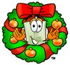 Light Switch Cartoon Character With a Christmas Wreath clipart