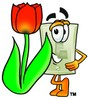 Light Switch Cartoon Character With a Spring Tulip clipart