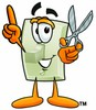 Light Switch Cartoon Character Holding Scissors clipart