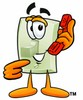 Light Switch Cartoon Character Holding a Phone clipart