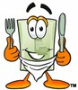 Light Switch Cartoon Character With Eating Utensils clipart