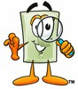 Light Switch Cartoon Character Looking Through a Magnifying Glass clipart