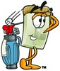 Light Switch Cartoon Character Golfing clipart