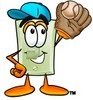 Light Switch Cartoon Character Playing Baseball clipart