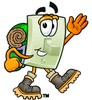 Light Switch Cartoon Character Hiking clipart