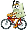 Light Switch Cartoon Character Riding a Bike clipart