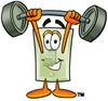 Light Switch Cartoon Character Lifting Weights clipart