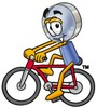 Magnifying Glass Cartoon Character Riding a Bike clipart