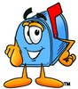 Mail Box Cartoon Character Pointing At You clipart