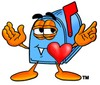 Mail Box Cartoon Character In Love clipart