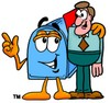 Mail Box Cartoon Character Talking To a Businessman clipart