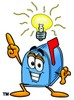 Mail Box Cartoon Character With an Idea clipart