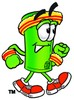 Rolled Money Cartoon Character Speed Walking clipart