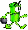 Rolled Money Cartoon Character Bowling clipart