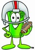 Rolled Money Cartoon Character Playing Football clipart