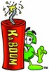 Dollar Sign Cartoon Character With a Stick of Dynamite clipart