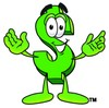 Dollar Sign Cartoon Character clipart