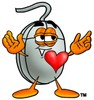 Computer Mouse Cartoon Character In Love clipart