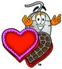 Computer Mouse Cartoon Character With Valentines Candies clipart