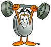 Computer Mouse Cartoon Character Lifting Weights clipart