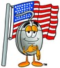 Computer Mouse Cartoon Character With an American Flag clipart