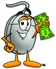 Computer Mouse Cartoon Character Holding Cash clipart