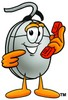 Computer Mouse Cartoon Character Holding a Phone clipart