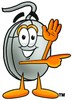 Computer Mouse Cartoon Character Giving Directions clipart