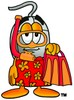 Computer Mouse Cartoon Character In Red and Orange Snorkel Gear clipart