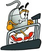 Computer Mouse Cartoon Character on a Treadmill clipart